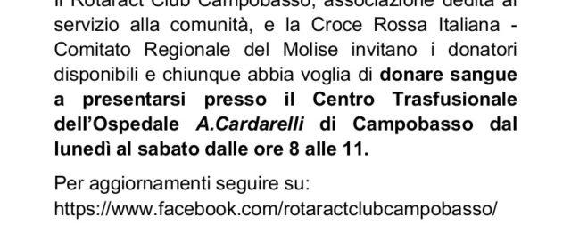 Invito a donare sangue presso l'Ospedale Cardarelli di Campobasso
