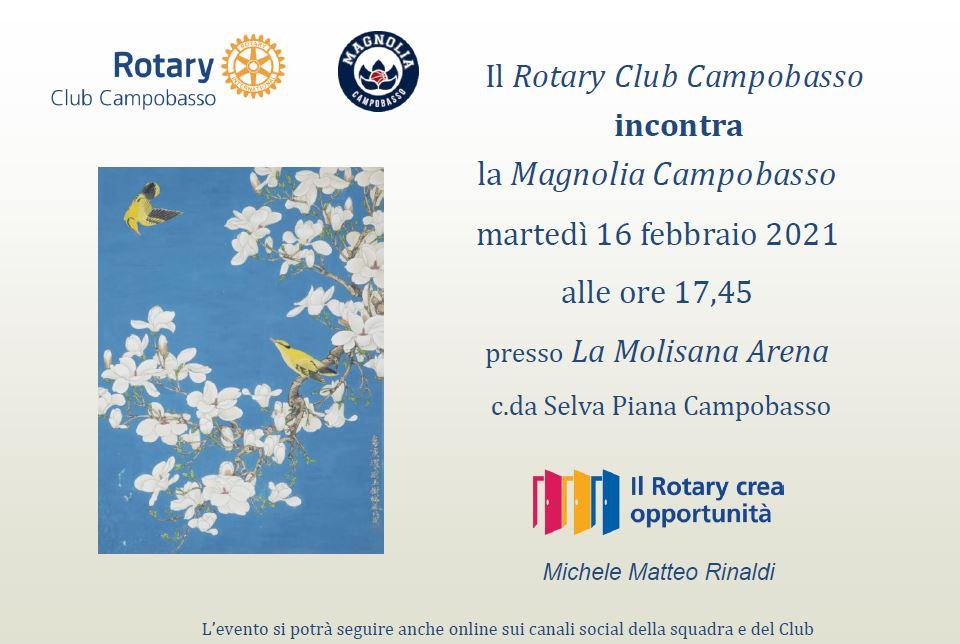 Il Rotary Campobasso incontra La Molisana Magnolia Basket Campobasso